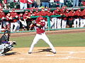 Evansville at Arkansas baseball, 2013 014.jpg
