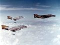 F-4D 13th TFS leads VF-151 F-4Bs on bombing mission 1971.jpg
