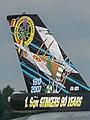 FA-101 F-16AM Fighting Falcon AF Belgium '-1st Sqn 90 years'- colorscheme Kleine Brogel 2007 tail P1020050 (50852040078).jpg