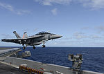 FA-18F of VFA-211 is launched from USS Theodore Roosevelt (CVN-71) in November 2015.JPG