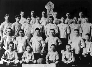 Football in Kazakhstan - Pioneers of the Kazakh football FC Yarysh of Semipalatinsk, 1914.
