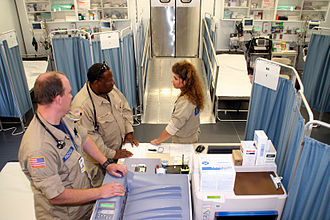 Emergency department - The main patient area inside the Mobile Medical Unit operated in Belle Chasse, Louisiana