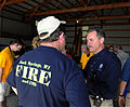 FEMA - 35693 - FEMA Administrator Paulison speaks with a fire chief in Wisconsin.jpg