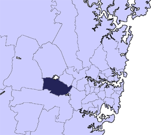 City of Fairfield - Location in Metropolitan Sydney