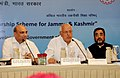 Farooq Abdullah addressing a Conference of the Stake-holders of the Special Scholarship Scheme for Jammu & Kashmir, in New Delhi. The Union Minister for Human Resource Development.jpg