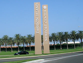 Newport Center - Main entrance to Newport Center and Fashion Island at intersection of Newport Center Drive and Highway 1
