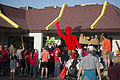 Fast food workers on strike attempt to get inside McDonald's (26435533655).jpg
