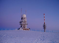 af831e6d46 Weather radar with the new Feldberg Tower in the background