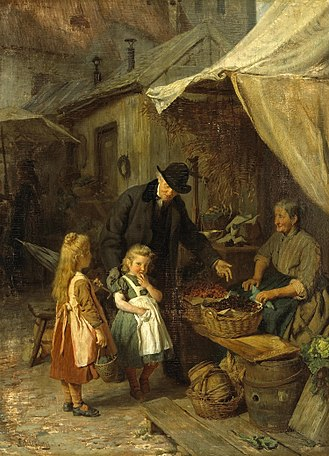 Market town - At the market by Felix Schlesinger c. 1890
