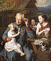 Ferdinand Georg Waldmüller Ein alter Invalide mit drei Kindern 1827.jpg