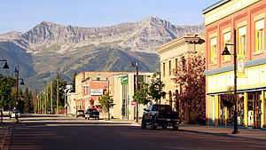 Fernie, British Columbia - Downtown Fernie, looking south