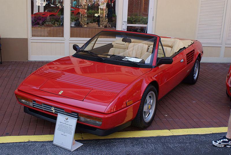 file ferrari mondial 1988 3 2 cabriolet lsidefront cecf. Black Bedroom Furniture Sets. Home Design Ideas