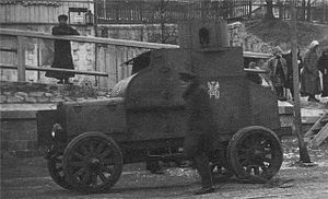 Siberian Army - A Fiat-Omsky armored car used by the Siberian Army.