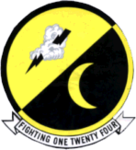 Fighter Squadron 124 (US Navy) insignia 1957.png