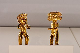 Pre-Columbian Gold Museum - Image: Figures at the Pre Columbian Gold Museum in San José, Costa Rica