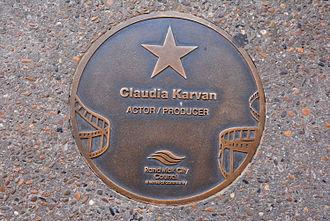 Claudia Karvan - Karvan's plaque at the Australian Film Walk of Fame, Ritz Cinema, Randwick, Sydney