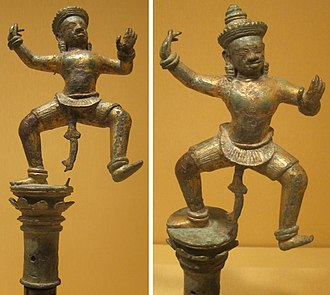 Royal ballet of Cambodia - Angkorian style dancing figures from the 10th century.