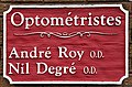Firmenschild einer Optikerpraxis in Franko-Kanada.jpg