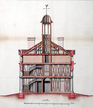 Old Ursuline Convent, New Orleans - 1733 diagram of the first Ursuline Convent
