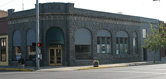 National Register of Historic Places listings in Crook County, Oregon - Image: First National Bank Prineville Oregon