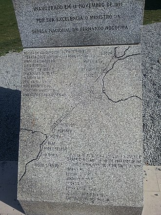 Carlos Viegas Gago Coutinho - Image: First South Trans Atlantic flight monument route in Lisbon