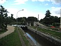 First lock of the Canal du Loing near Buges, Loiret, France. In the background left the Canal de Briare, right the Canal d'Orléans. - panoramio.jpg