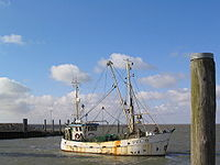 A trawler in Nordstrand, Germany