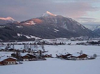 Flachau - Flachau valley in March 2008