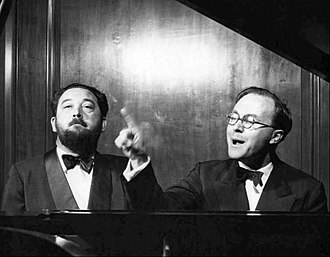 Have Some Madeira M'Dear - Image: Flanders and Swann At the Drop of a Hat Broadway