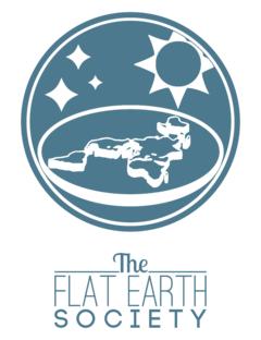 地球平面協会のロゴ、2013年