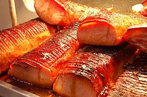Peameal bacon - Image: Flickr bokchoi snowpea 4266923676 Roast peameal bacon