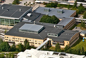 Umeå University Library - Aerial photo of the University Library