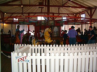 The Flying Horses Carousel, Oak Bluffs, Martha's Vineyard, Dukes County Flying horses carousel.JPG