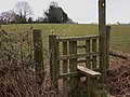 Footpath and stile near Chiddingfold - geograph.org.uk - 1749184.jpg