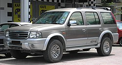 Ford Everest (first generation) (front), Serdang.jpg