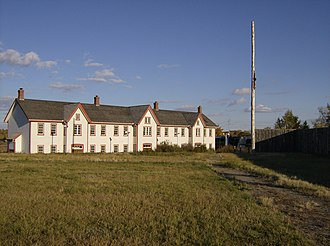 Fort Calgary - A two-storey barrack was built in 1888, several years after most of the fort was dismantled.