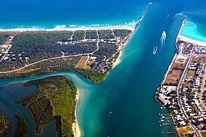 Fort Pierce, Florida - Image: Fort Pierce Inlet Fort Pierce Florida photo D Ramey Logan