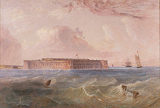 Fort Zachary Taylor Historic State Park - Fort Taylor, Florida by Seth Eastman (1808-1875)