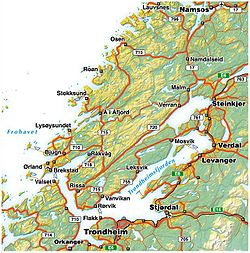 kart over steinkjer Trondheim Fjord   Wikipedia kart over steinkjer