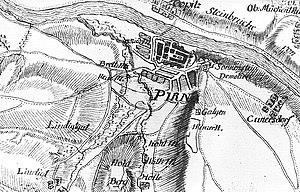 Siege of Pirna - Image: Fotothek df rp d 0360017 Pirna. Karte von einem Teil des Kurfürstentums Sachsen, Petri, nach 1759 (Sign.,