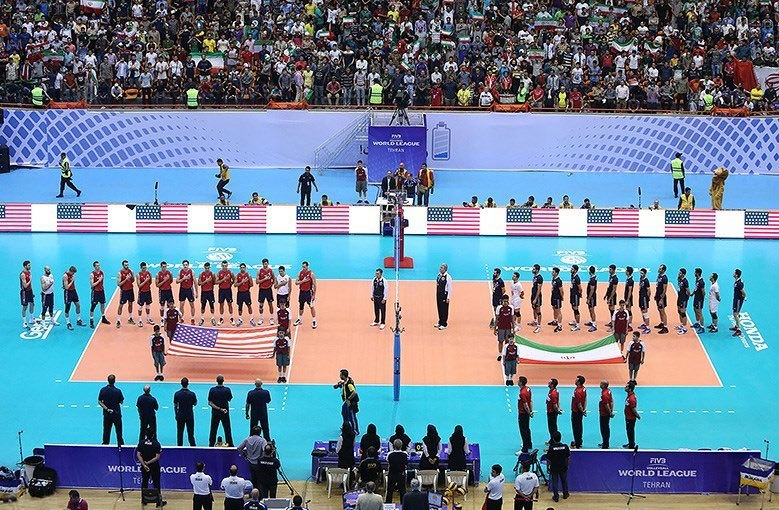 Fourth match between Iran and The United States national volleyball teams in 2015 FIVB Volleyball World League (7)