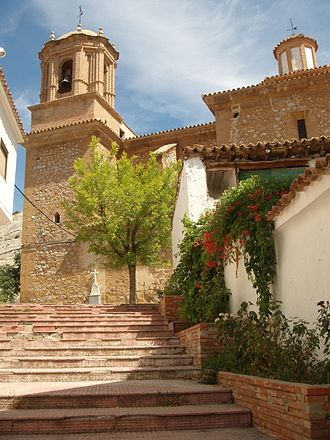 Foz-Calanda - Foz Calanda ascent to the Church