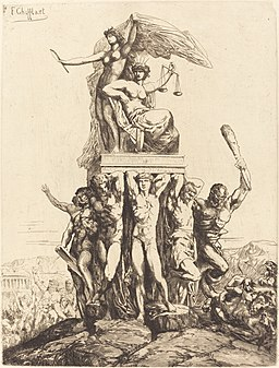 François-Nicolas Chifflart, The Triumph of Justice and Truth, 1865, NGA 126568