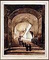 François-marius granet, monaci lungo la scalinata della villa di mecenate a tivoli, 1826 ca.jpg