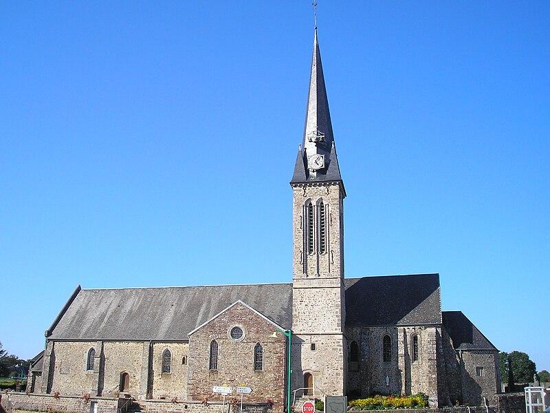 Notre-Dame-de-Cenilly (Normandie, France). L'église Notre-Dame.