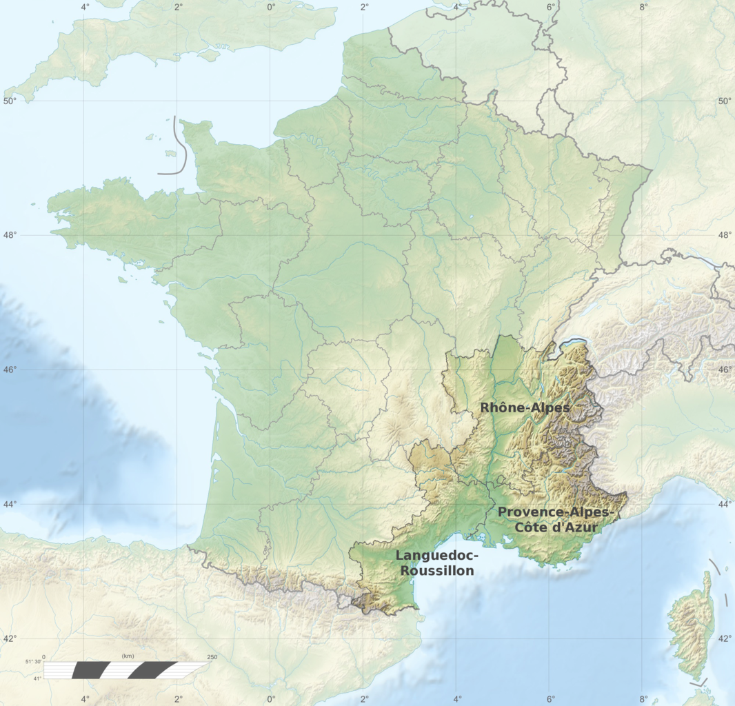 File:France relief location map South East highlighted-fr.png ...