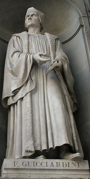 Statue of Francesco Guicciardini, in Florence, in Galleria degli Uffizi