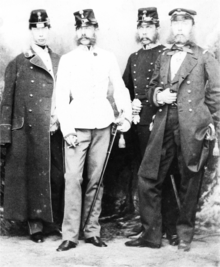 Die vier Brüder (von links nach rechts): Ludwig Viktor, Franz Joseph, Karl Ludwig und Ferdinand Maximilian (1859) (Quelle: Wikimedia)