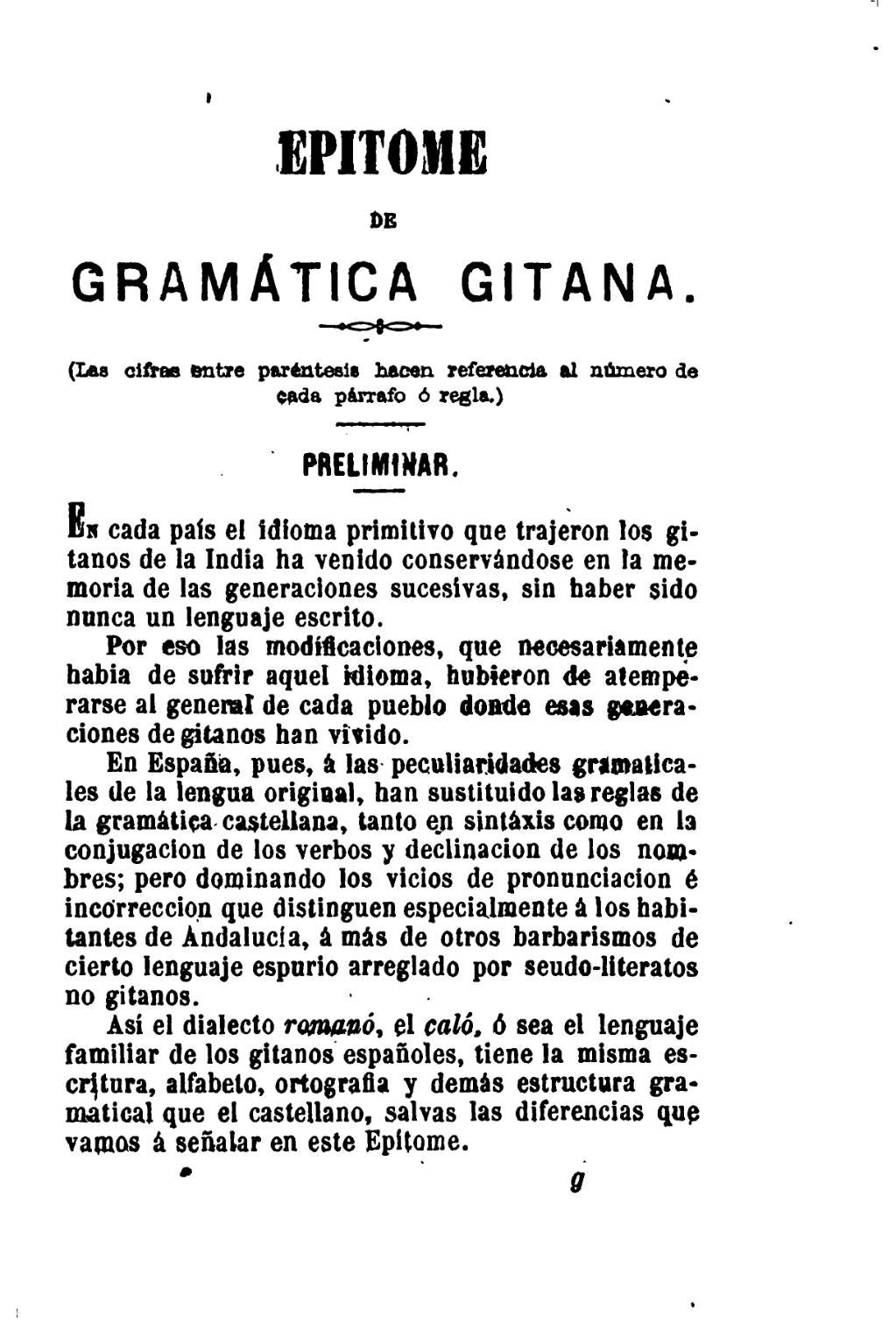 diccionario castellano calo: