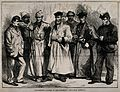 Franco-Prussian War; convalescent soldiers in Bordeaux. Wood Wellcome V0015470.jpg
